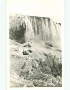 Pre-1950 rppc NICE VIEW Niagara Falls New York NY W0735