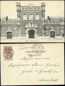 belgium, LIEGE LUIK, Entree de la Prison (1903) Stamp