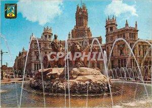 Postcard Modern Madrid Cibeles Palace Communications and