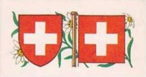 Brooke Bond Tea Vintage Trade Card Flags &  Emblkems Of The World No 31 Sw...