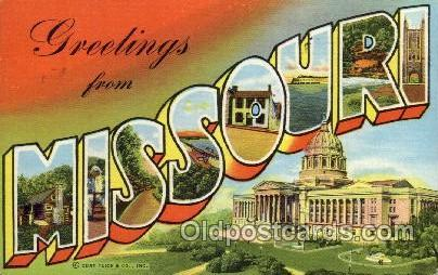 Missouri Large Letter State States Post Cards Postcards  Missouri USA
