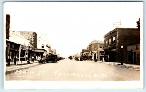 RPPC TUCUMCARI, NM New Mexico  MAIN STREET Scene 1928  Quay County Postcard