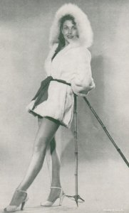 Pin-Up Girl in Fur parka , 1940-50s