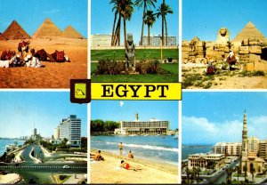 Egypt Multi View Showing Pyramids Great Sphinx Nile Hilton Hotel and More