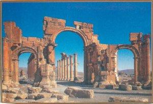 Post card Syria Palmyra Arch of Triumph