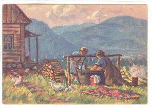 Washing Day, top of mt , Murray Bay , Quebec , Canada , 30-40s