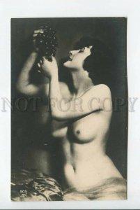 3184716 NUDE Belle Woman w/ GRAPE Vintage PHOTO AN #505