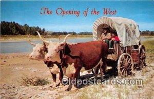 Ox Team & Covered Wagon Canestota Wason Cow Unused