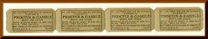 Vintage Procter & Gamble Promotion Tickets, Soaps & Crisco, Bike Raffle, ...