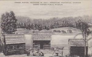 Michigan Grand Rapids Michigan In 1827 Miniature Historical Diorama Grand Rap...