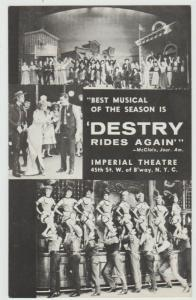 Andy Griffith Theater Advertising:-1950s Musical Destry Rides NYC NEW YORK pc