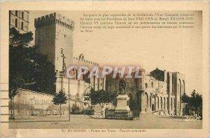 Old Postcard Avignon Popes' Palace Facade principale