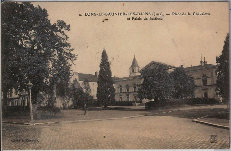 FRANCE carte postal CPA - VINTAGE POSTCARD - Jura: Lons-le-Saunier 1908
