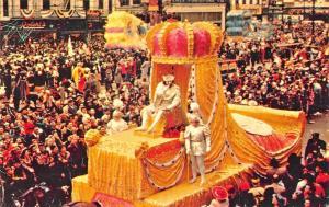 New Orleans LA Street View Mardi Gras Parade King Rex Postcard