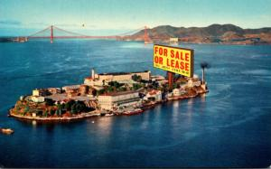 California San Francisco Alcatraz Island With For Sale Or Lease Sign