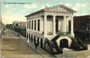 Charleston SC~The Old Market~Cannon on Top~Henry Sweitz Wholesale~c1910 Postcard