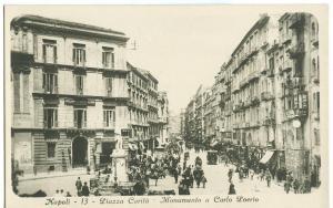 Italy, Napoli, Piazza Carita, Monumento a Carlo Poerio, used