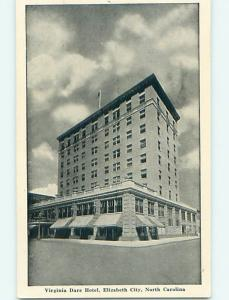 Unused 1940's VIRGINIA DARE HOTEL Elizabeth City North Carolina NC Q6657