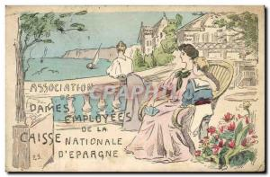 Old Postcard Bank employees Ladies Association of the Caisse Nationale d & # ...