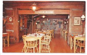 Gatlinburg TN Smoky Mts Restaurant Pioneer Inn Interior G Aiken Photo Postcard