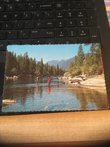 Vintage Postcard: Wenatchee River -near Leavenworth Washington