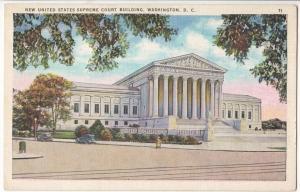 New United States Supreme Court Building, Washington DC, unused Postcard