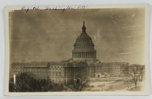 1920s Washington DC Capitol Building from The House of Rep RPPC Postcard Q20