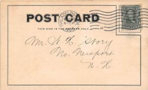 Souvenir Card mailed to  W.H. Story Grocery Store from   Souvenir Pratt Food Co