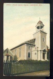 Amesbury, Massachusetts/MA/Mass Postcard, French Catholic Church, 1908!