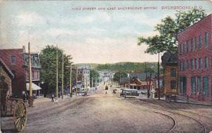 King Street and East Sherbrooke Bridge,Sherbrooke,P.Q., Canada,PU-1907