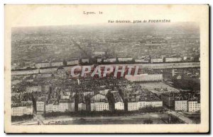 Old Postcard Lyon Vue Generale Taking Of Fourviere