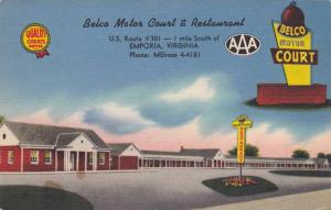 Exterior, Belco Motor Court & Restaurant, Emporia, Virginia, 30-40s