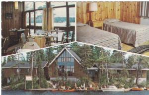 3-views,  Camp Manito Hotel on lake Temagami,  Temagami,  Ontario,   Canada, ...