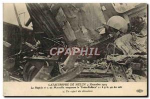 Old Postcard Train Disaster Melun November 4, 1913 Rapid n2 Marseille buffers...