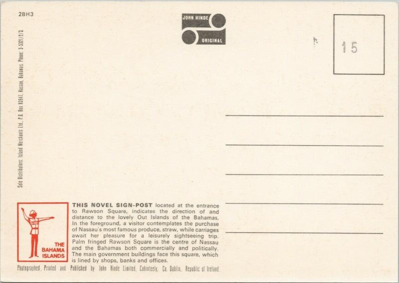 Rawson Square Nassau Bahamas UNUSED Vintage John Hinde Postcard D94