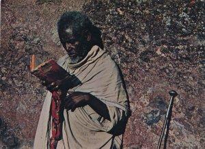 Priest at Lalibela - 13 Months of Sunshine - Ethiopia, Africa - pm 1974