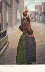 Netherlands Marken Young Girl In Costume