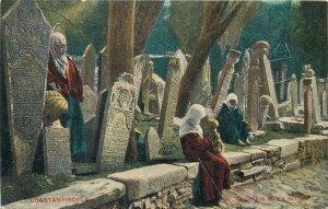 Turkey Constantinopole Cimetiere turc a Scutari  Postcard