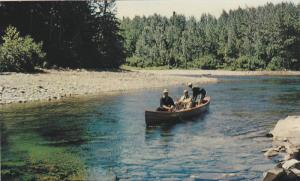 Salmon Fishing on the York River,  Gaspe,  Quebec,  Canada,   40-60s