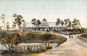 Southern Pines North Carolina Piney Woods Inn Antique Postcard K38799