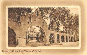 GLENWOOD MISSION INN Riverside, CA Hotel Entrance c1920s Vintage Postcard