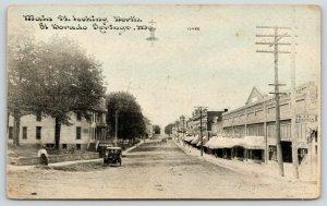 El Dorado Springs MO~Main Street~Brown's New Store~Grocery~Car~c1910 CU Williams