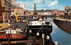 Netherlands Groningen Winschoterdiep hoek Oosterhaven Bateau Boats