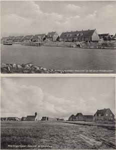 Middenmeer Wieringermeer 2x Dutch Real Photo Postcard s