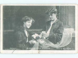 rppc 1905 Blanch & Doris Stocker BRITISH SISTERS AND ACTRESSES AC8124