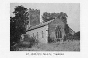 St Andrews Church Thurning Northampton Postcard