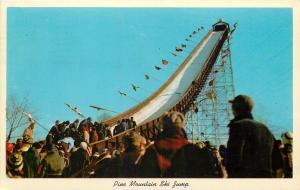 Iron Mountain MI~Pine Mountain Ski Jump~Ski Competition~1950s~Postcard