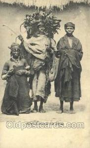 Witch Doctor & his wife African Life Postcard Post Card  Witch Doctor & his wife