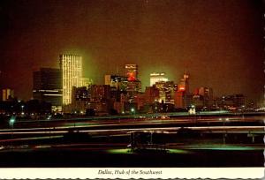 Texas Dallas Skyline At Dusk