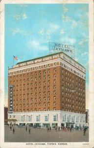Postcard Hotel Jayhawk Topeka Kansas
